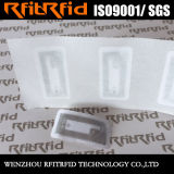 Mini tag RFID de papier mat imprimable adhésif fait sur commande de NFC