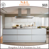 N & L Classic White Lacquer Wood Kitchen Cabinetry Furniture