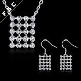 Conjunto cúbico de la joyería del Zirconia del nuevo del diseño aniversario promocional del cuadrado