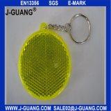 Riflettore dell'indicatore luminoso di sicurezza, anello portachiavi riflettente, regalo promozionale (JG-T-03)