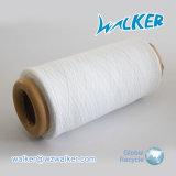 Hilado reciclado mezclado algodón blanco estupendo de la tela del blanqueo que hace punto