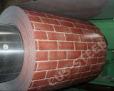 Strato filmato bobina variopinta di legno stampato del mattone PPGI PPGI