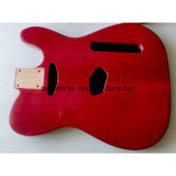 Прозрачный глянцевый красный готовой 2 кусок дерева теле гитара Органа