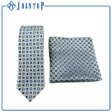 Insiemi esclusivi della cravatta del quadrato della casella del jacquard del poliestere