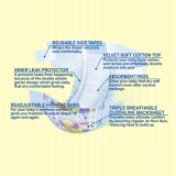 Wegwerf-Soem-Hersteller Breathable Tuch-Wie rückseitige Blattincontinence-Baby-Windel