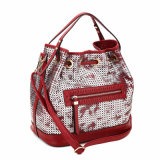Oco-out Zip Decorated Women Handbag Balde saco (MBNO040095)