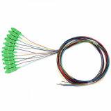 PLC 1*16 Splitter de fibra óptica monomodo con paquete de tubo de acero