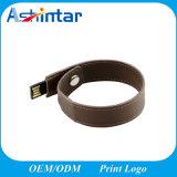 De Stok van Wrisbtand USB van de Flits van het Geheugen van de Armband USB van het leer
