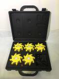 5pack再充電可能な警報灯のケースの安全燈ストロボライト