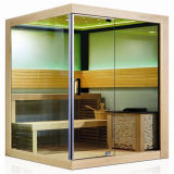 CE, RoHS, Temper Glass African White Wood Sauna Room