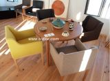 (SD-1007)現代ホテル木製ファブリック家具製造販売業の食堂のレストランの椅子