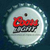 LED-helle Bierflasche-Schutzkappen-Abzeichen mit Firmenzeichen-Druck (3569)