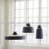 Iluminação simples com Ce, certificação da lâmpada do pendente do metal preto da cor de SAA