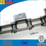 C2040 Precision Double Pitch Conveyor Chain com cor azul