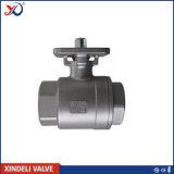 шариковый клапан 2PC продетый нитку нержавеющей сталью с сертификатом Ce