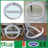 Fenêtre ronde à profil en aluminium avec conception d'ouverture intermédiaire