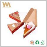 Torta que empaqueta el rectángulo de papel de Kraft con la decoración modificada para requisitos particulares