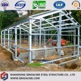 El almacenaje prefabricado vertió la estructura de acero