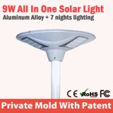 Fabrication extérieure du système DEL de réverbère de lampe d'énergie solaire