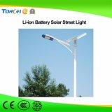indicatore luminoso solare Integrated potente della batteria di litio 40W per la strada campestre con l'indicatore luminoso di via solare