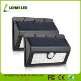 20 LED 4W 까만 색깔 플라스틱 주거 방수 운동 측정기 LED 태양 빛