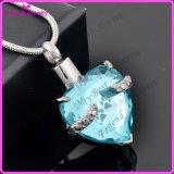 De Halsband van het Kristal van het Roestvrij staal van de Halsband van de Tegenhanger van de Crematie van het hart 316L (IJD9790)