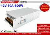 De Levering van de Macht Omschakeling van de HOOFD van de Bestuurder gelijkstroom 12V 50A 600W voor de Controle van de Veiligheid