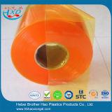 Gordijn van de Strook van de Deur van pvc van het anti-insect het Oranje Vlakke Plastic Vinyl