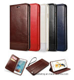 PUのSamsung S8/S8plus/S7/S7の端等のための革移動式携帯電話の箱