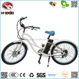 Lady Style Electric Woman Beach Cruiser Bike En15194 Bateria de lítio Bicicleta com pedal E-Bike