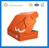 Rectángulo acanalado impreso color anaranjado completo de la E-Flauta (con insignia de encargo de la marca de fábrica)
