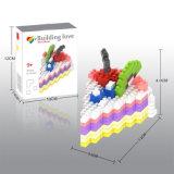 14889235-Micro Kit de Bloque de la serie de alimentos creativo conjunto de bloques de juguete DIY educativo 210PCS - Triángulo pastel