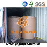 Het bruine die Document van Kraftpapier van de Zak met Riem op Pallet wordt verpakt