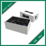 Contenitore di regalo di carta a due pezzi con gomma piuma nera