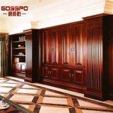Painel de revistas de parede de madeira interior barata do Reino Unido (GSP11-006)