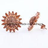 Schöne Sonnenblume-Stein-Hochzeits-Ohrring-Frauen