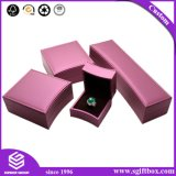 Cadre de bijou de empaquetage de cadeau de carton rigide fabriqué à la main de forme de coeur