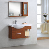 Vaidade branca e preta fixada na parede do banheiro da série do gabinete