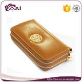 Золотистый бумажник застежки -молнии двойника способа цвета для повелительниц