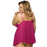 2017 Hot Sale Paypal Accepté Rose / Rouge / Purple Plus Size Women Sexy Lingerie