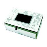 Rectángulo de empaquetado de la joyería de plata al por mayor del espejo de China para el regalo de boda