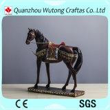 Scultura romana del cavallo della resina di stile europeo per la decorazione domestica