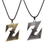 Vintage Anime Dragon Ball Z Couro Cordão Alloy Pendant Necklace