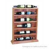 Bodega de madera de la visualización del almacenaje de la botella de vino con el estante del vino