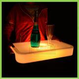 Bandeja rectangular LED LED que brilla intensamente para Bar