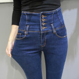 Jeans minces de dames de denim de qualité