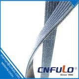 6pk courroie, poly courroie de V avec la fibre, garantie 80000km
