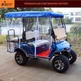 4 Seater後部フリップシートが付いている電気ハンチングゴルフカート(雨カバーはchoosedできる)