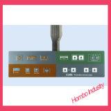 Fronteira botões relevos de alumínio tátil Interruptor de Membrana do Painel Traseiro