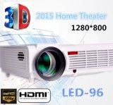 2017 VGA USB 1080P Volledige HD LCD van het Theater AV van het huis LEIDENE 96+ 3D Projector WiFi